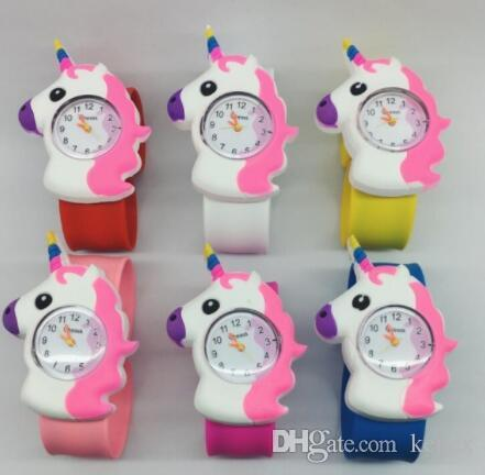Kids Watch Fashion Cute Cartoon Unicorn Leather Strap Wristwatch Classic Digital Girl Boy Watch Child Quartz Watch Matching In Colour Watches