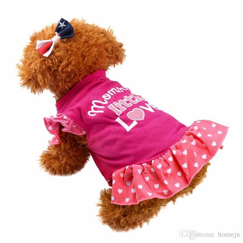 Летний щенок Маленькая Pet Pet Pet Dress Одежда Одежда Fly Fly Dress Платье Ropa De Verano Para Perros Девушка Одежда для собак