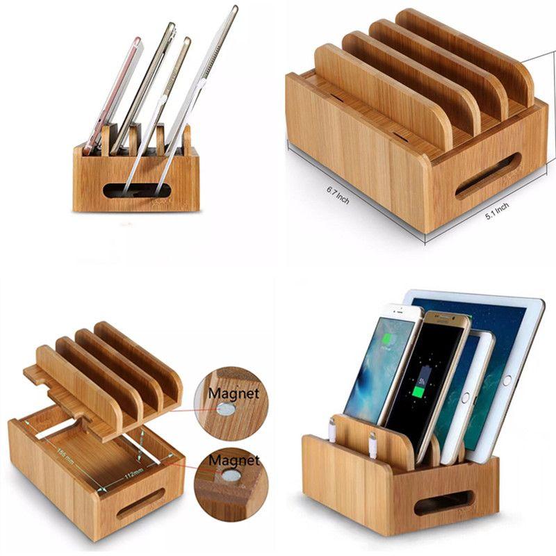 handy halter kfz handyhalter tischladestation aus holz aus holz bambushalterung mobile tablet. Black Bedroom Furniture Sets. Home Design Ideas