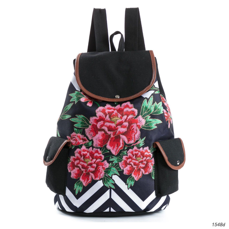 6d597f6697f5 Women Backpacks For Teenage Girls Floral Printed School Bags Travel Leisure  Laptop Backpack Female Canvas Backpacks Girl Backpacks Toddler Backpack  From ...