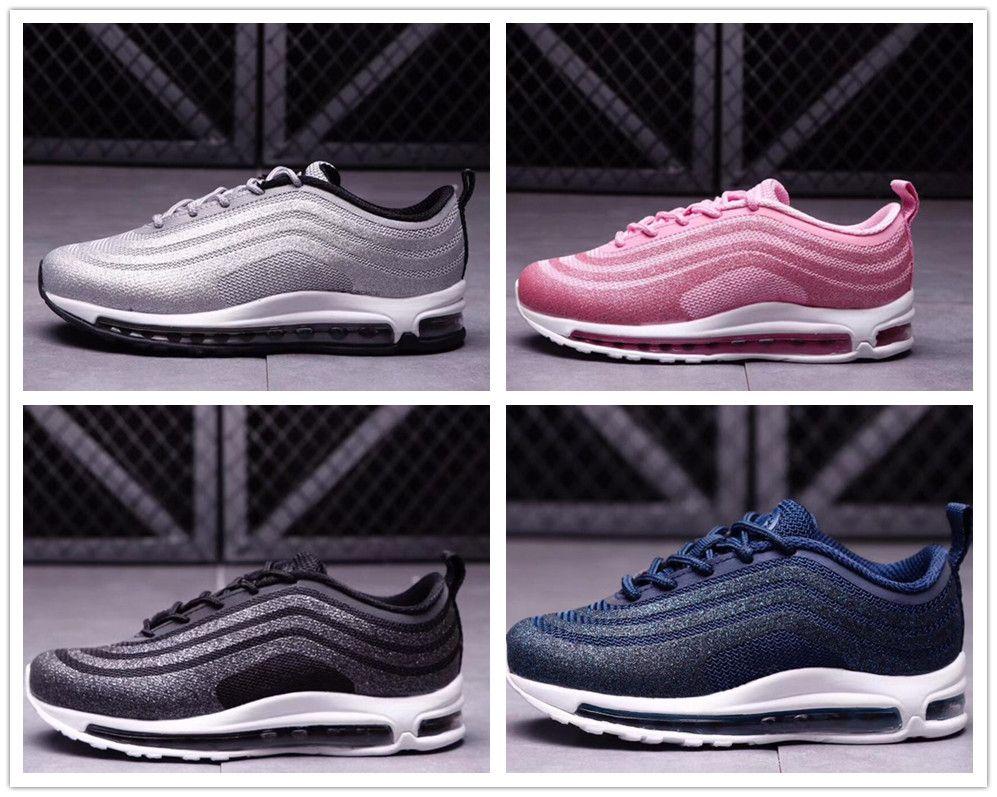 info for cea69 70d98 Compre Nike Air Max 97 Airmax Bebê Crianças Correndo Sapatos Almofada 97  KPU Sapatos De Treinamento De Plástico Juventude Meninos Meninas Atacado  Crianças ...