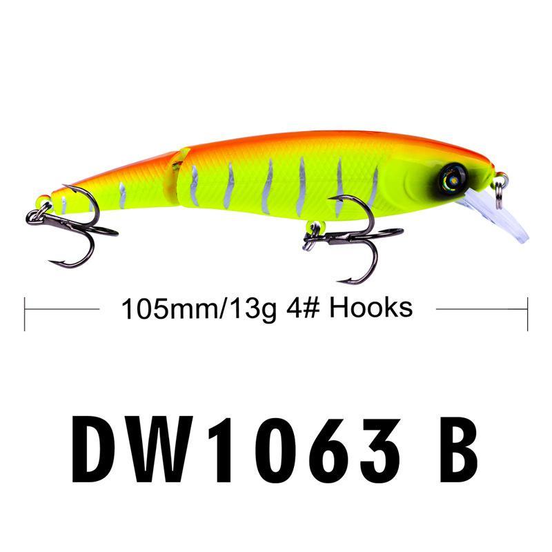 ABS trucha de plástico señuelo de pesca 2 segmentos Laser Crankbait 13 g 10.5 cm vivo artificial medio-tard pescado cebo