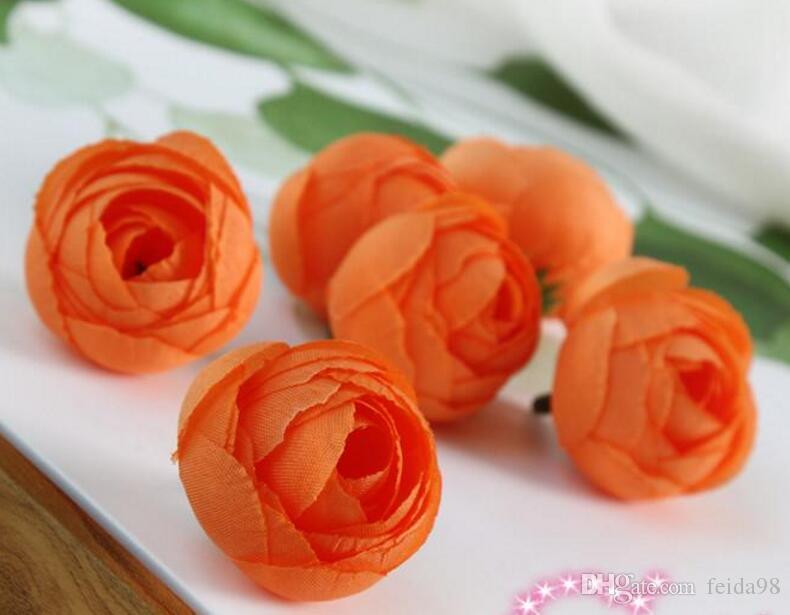 Seidenblume Künstliche Blume Kopf Künstliche Blume Hochzeit Dekoration Kränze Hochzeit Auto Dekoration Frühling Dekoration 3,5 cm GA75