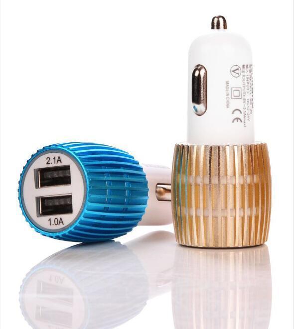 El adaptador dual del coche del poder USB de los puertos 5V 2.1A del cargador dual del coche del USB 2 para el iPhone / Samsung / Android llama por teléfono