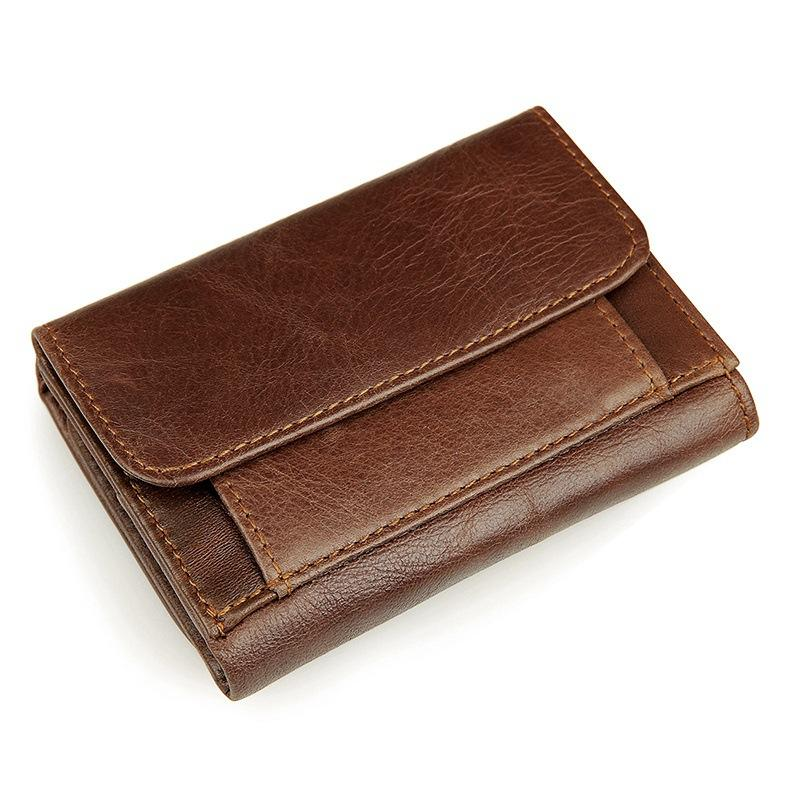 Genuine Leather Photo Holder Men Wallets Fashion Real Cowhide Coin ...