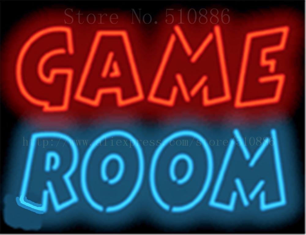 17 14 Game Room Neon Sign Real Glass Beer Bar Pub Light Signs Store Display Restaurant Shop Occasional Home Advertising Lights