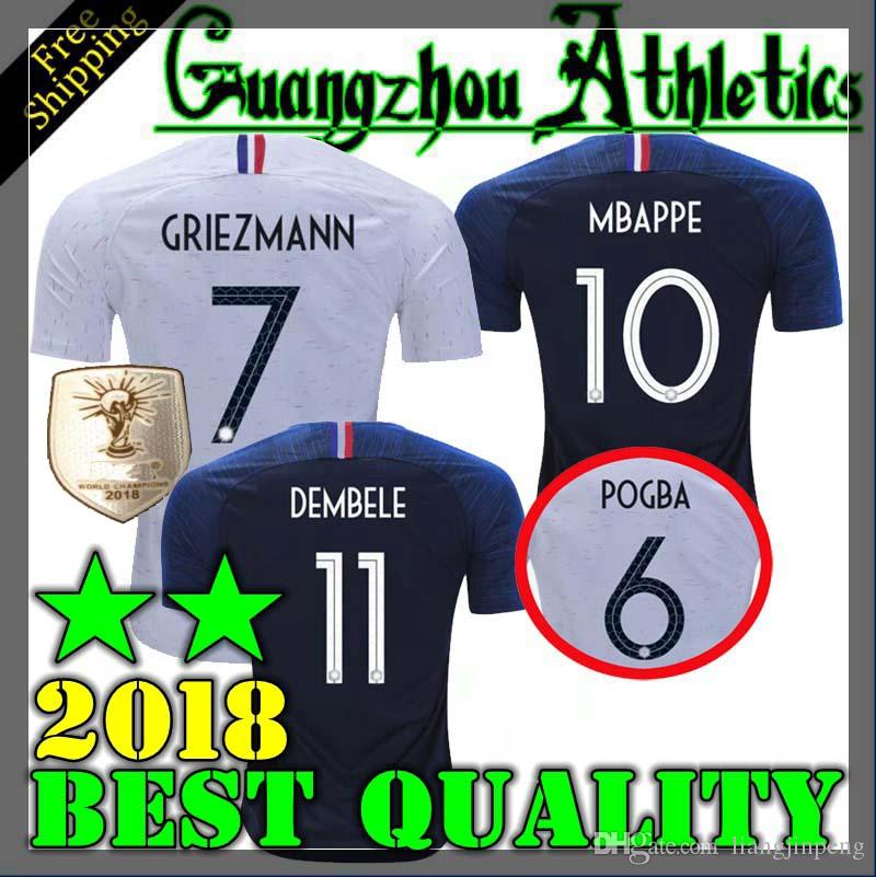 4ba7786b478 2019 NEW 18 19 Soccer Jersey 2018 World Cup 2 Stars Pogba BLUE PAYET  DEMBELE MBAPPE GRIEZMANN KANTE Football Shirts From Liangjinpeng, $13.2 |  DHgate.Com