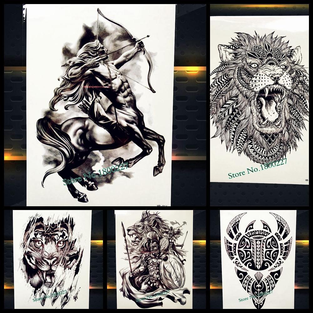 Nuevo Griego Mitologia Centauro Tatuaje Temporal Sagitario Diseno