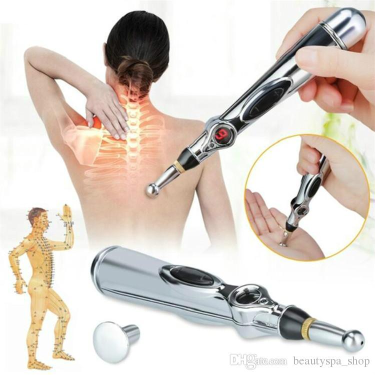 Sağlık Meridyen Enerji Kalem Elektronik Akupunktur Darbe Analjezi Terapi Makine Vücut Masajı Kalem Ağrı kesici