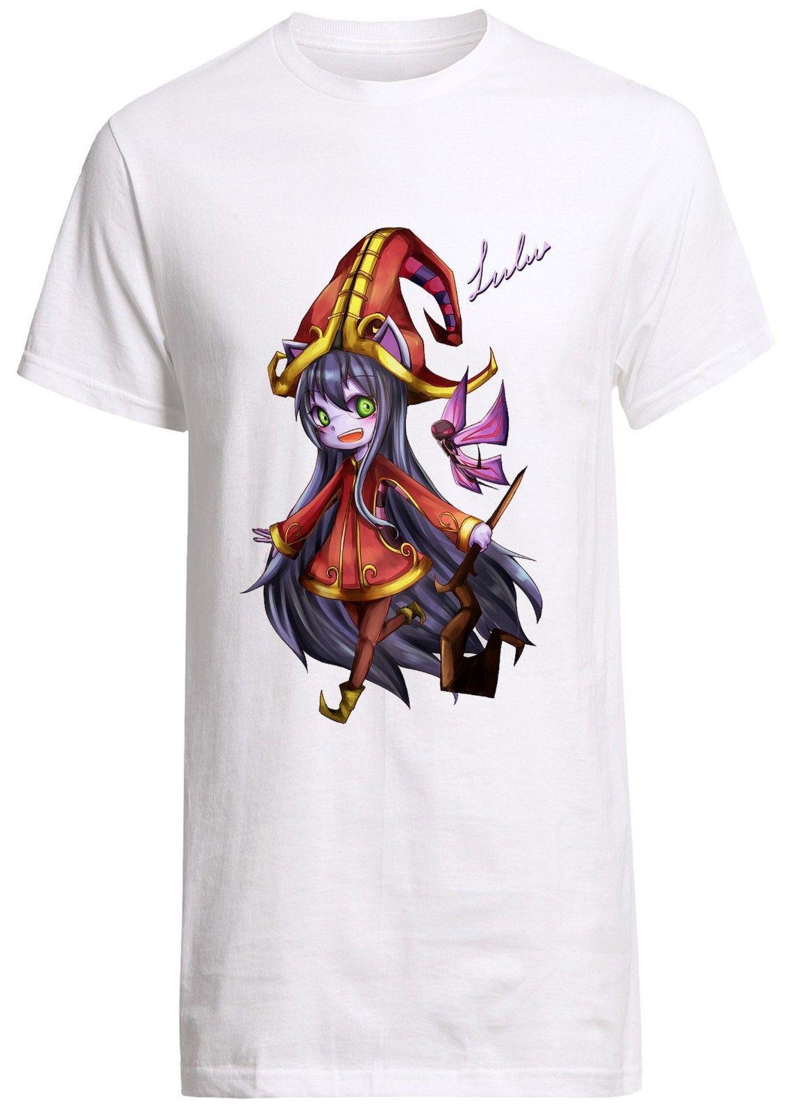 7ec15ce58d Compre League Of Legends Lulu Camiseta Yasuo Gnar Jax Ashe Jinx Adc  Mediados De Camiseta Personalizada A  11.17 Del Fashiontshirt