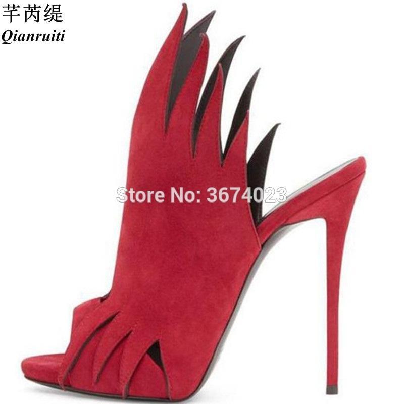 304a72b8e8f Compre Venta Al Por Mayor Precio De Fábrica Zapatos Mujeres Gladiador Rojo  Negro Zapatillas De Dedo Del Pie Peep Toe Tacones Recortes Mulas  Deslizamiento En ...