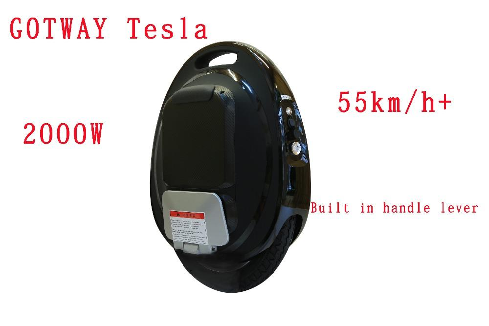 GOTWAY Tesla 16inch Electric unicycle Balance car single one wheel scooter  2000W motor 850/1020WH,life 60-80km,speed 55km/h
