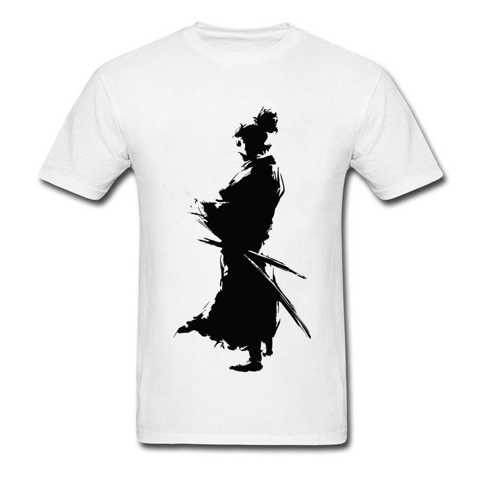 Fight T Shirt Character Men Japanese Samurai T Shirts Cool Tshirt
