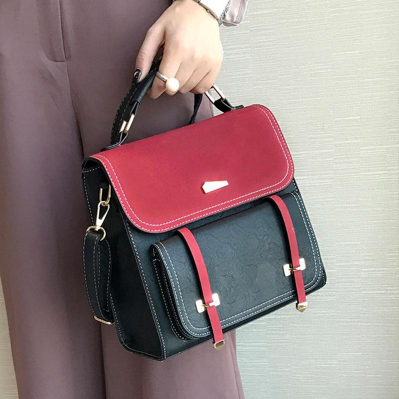 fa390b127b Two-tone Fashion Woman Backpack Cambridge Satchel 2018 Lady Leather  Backpacks Girls School Bags Travel Bag Backpack Style Two-tone Woman  Backpack 2018 Lady ...