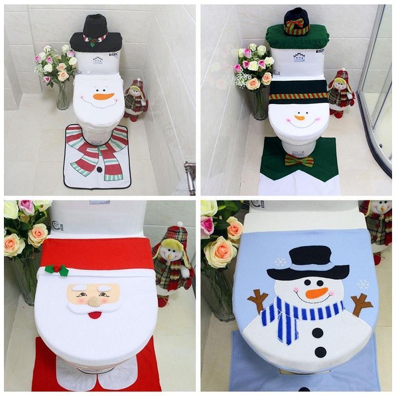 Copri Wc Babbo Natale.Acquista Christmas Toilet Seat Cover Coperchio Pupazzo Di Neve Babbo
