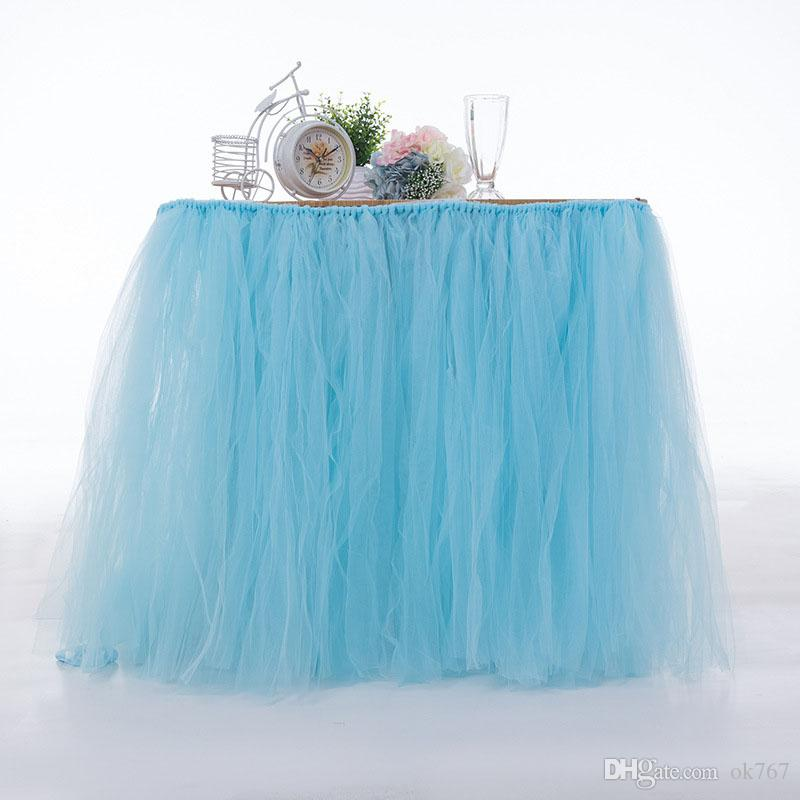 Wedding Party Tulle Tutu Table Skirt Birthday Baby Shower Wedding Table Decorations Diy Craft Supplies Hot Sale