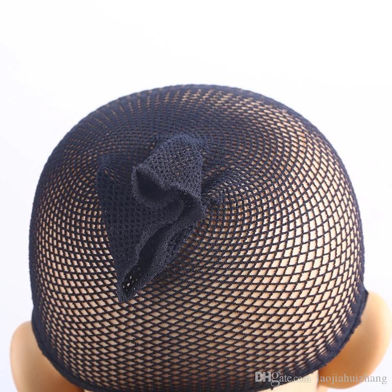 DIY Black Fishnet Invisibility 가발 신축성있는 신축성있는 머리 그물 조절 가능한 스트랩 헤어 액세서리 도구 무료 배송