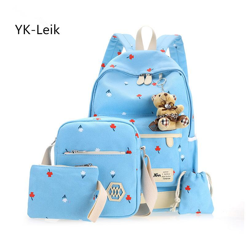 265f742421 Thick Canvas High Capacity Child Schoolbags For Teen Girls Fashion Printing  Lady Backpack For Middle School Students School Bags Fashion Bags Laptop ...