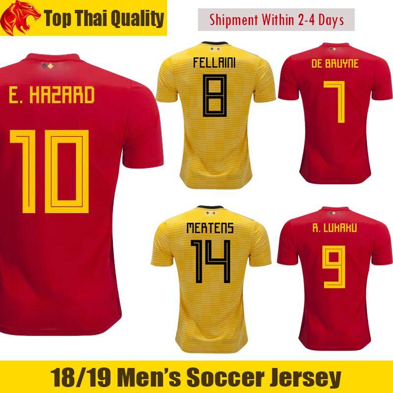 408f79482 2019 2018 World Cup Belgium DE BRUYNE Soccer Jerseys MERTENS 18 19 EDEN  HAZARD Football Shirt KOMPANY Belgium FELLAINI ROMELU LUKAKU Jersey From  Ijersey