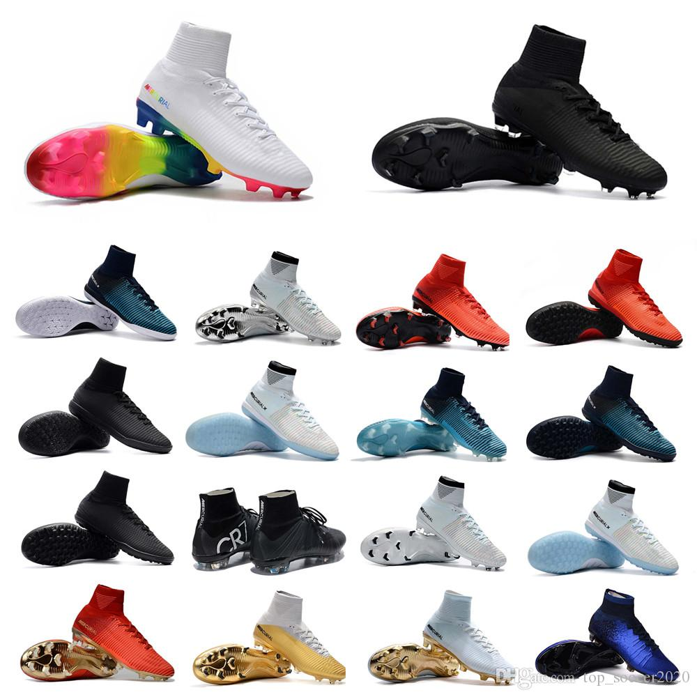 2ce6ab64d 2019 Best Classic Style Mercurial Superfly V TF/IC FG Football Shoes Hot  Sale Outdoor Mens FG Soccer Shoes CR7 Soccer Boots Cleats From  Top_soccer2020, ...