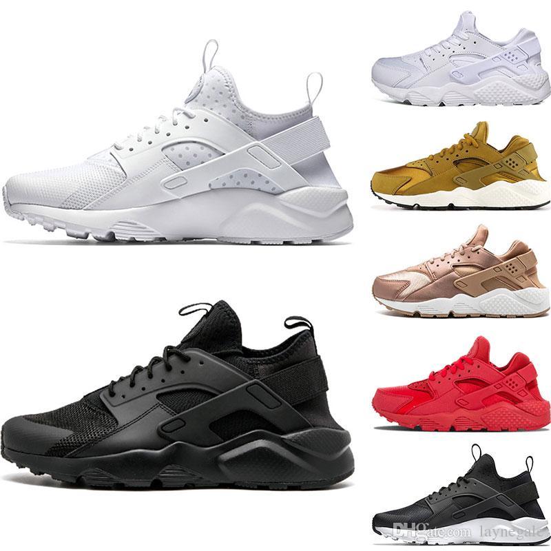 more photos 4bd53 a87f1 Großhandel Nike Air Huarache 4.0 1.0 Klassik Triple Weiß Schwarz Rot Herren  Womens Huaraches Schuhe Huaraches Sport Sneaker Laufschuhe Größe EUR 36 45  Von ...