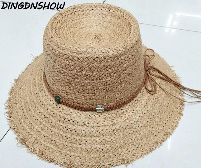 Compre DINGDNSHOW Marca Sombrero De Paja Sombrero De Ala Ancha Sombrero  Arco Para Mujer De Verano Gorro De Lino Elegantes Sombreros De Playa Para  Mujeres ... 956a379ac9a