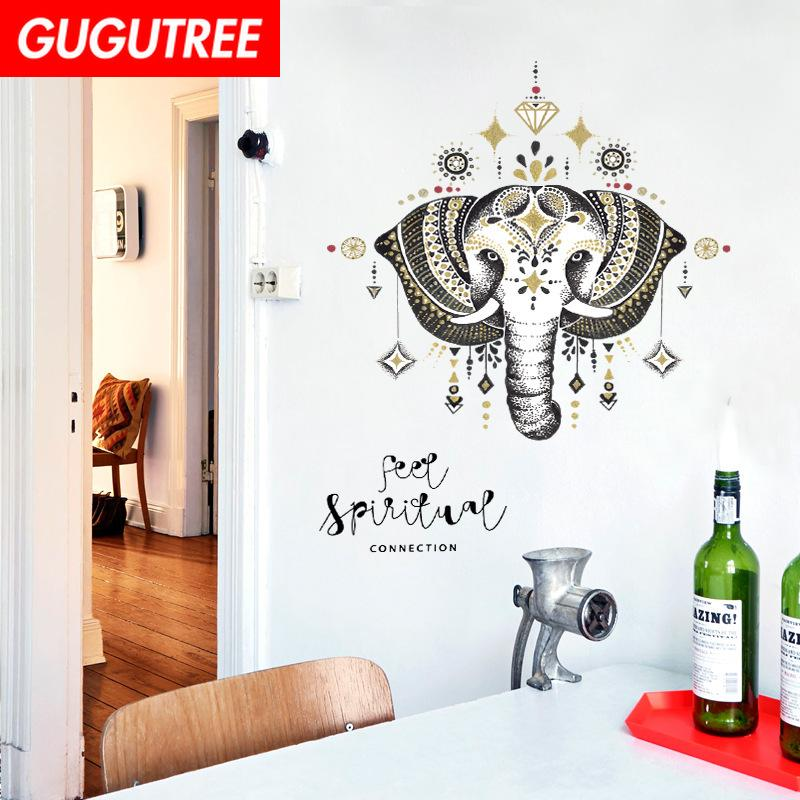 Decorate Home elephant cartoon art wall sticker decoration Decals mural painting Removable Decor Wallpaper G-1970