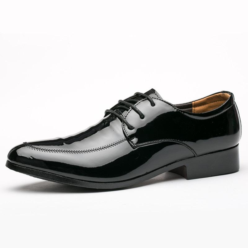 0aa51d544465 Men S Dress Shoe Oxford Business Formal Shoes Man Wedding Leather Office  Simple Style Quality Male Shoes Lace Up Plus Size 38 45 Cheap Trainers Blue  Shoes ...