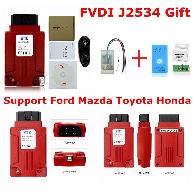 FVDIFUL SITC NEW 2018 FVDI J2534 VCM2 for Ford & Mazda Support Online  Module Key Programming Tool Support Most ELM327 Forscan