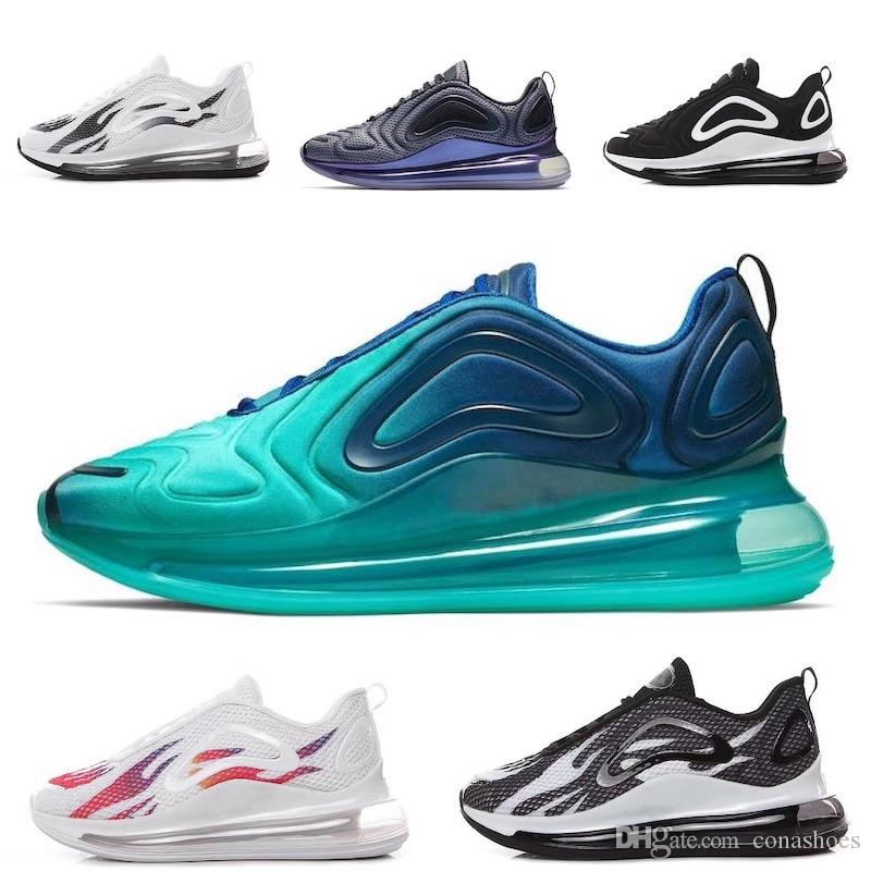 Nike Air Max 720 Zapatillas 2019 para correr Las zapatillas de deporte más vendidas Northern Lights Triple Black Classic Designer Shoes Zapatos