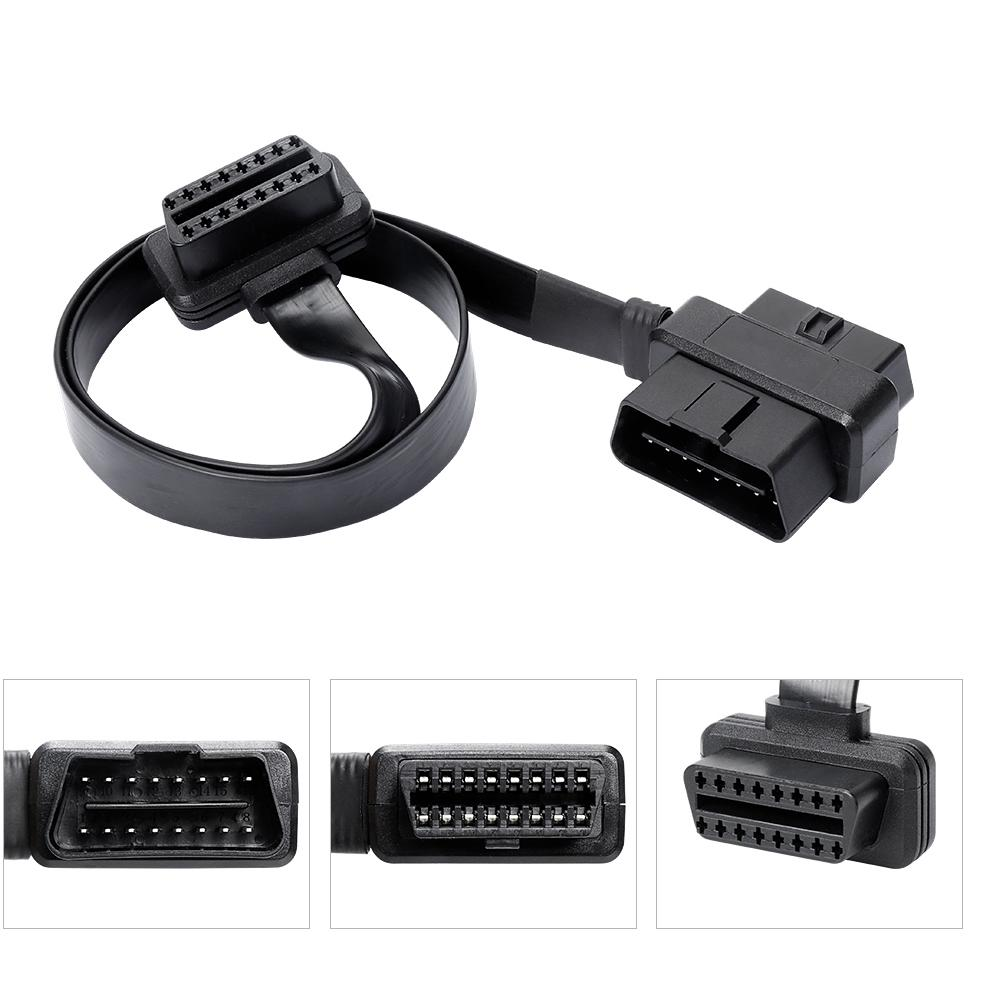 Durable Tools 16Pin Car Accessories Safety Easy Use Home Extension Cable Flat Connector Stable Male To Female Diagnostic Line