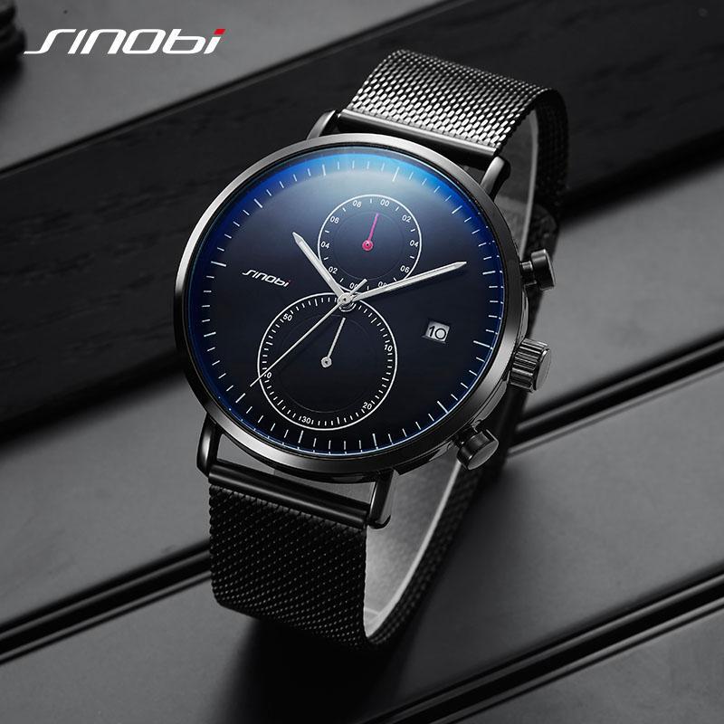 262a142af85b Compre SINOBI Mens Cuarzo Relojes De Pulsera De Lujo Omegable Marca De Acero  Inoxidable Reloj De Negocios Hombre Rolexable Reloj Relogio Masculino 2019  A ...