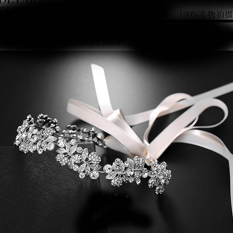 2019 Bridal Wedding Delicate Headband Satin Ribbon Women Simulation Pearl  Fashion Hair Bands Ladies Luxury Rhinestone Hair Jewelry From Dushiring002 f4bbbf9a4afc
