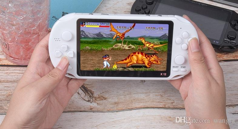 TOP quality X12 Handheld Game Player 8GB Memory Portable Video Game Consoles with camera 5.1 inch Support TF Card 32gb MP3 MP4 Player dhl
