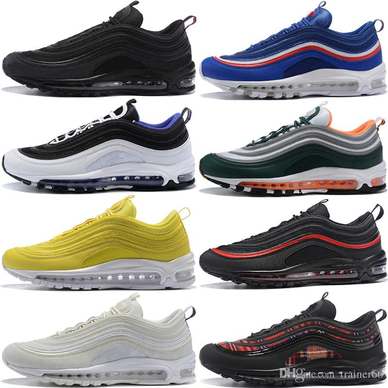 3158c2e48 2019 97 Running Shoes Mustard 97S Chaussures SE South Beach Yellow Triple  Black White Mens Women Trainer Designer Sports Sneakers 36 46 From  Trainer66