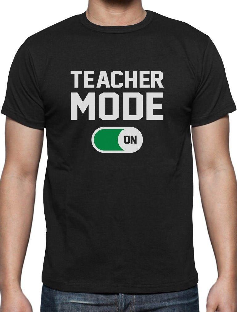 de535df2 Teacher Mode On Back To School Funny T Shirt Gift For Teachers T Shirts  Design Designer T Shirts From Lefan10, $14.67| DHgate.Com