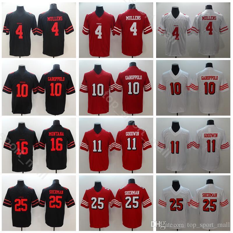 San Francisco 49ers Football 4 Nick Mullens Jersey Men Red White 10 ... e1833b797