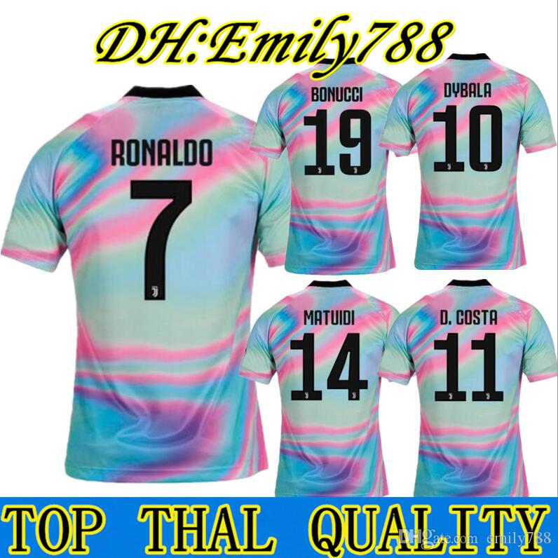check out 0a717 d5937 Thiland RONALDO Juventus 2018 2019 soccer jersey DYBALA 18 19 EA Sports  juventus football kit shirt Champion league MEN Adult JUVE
