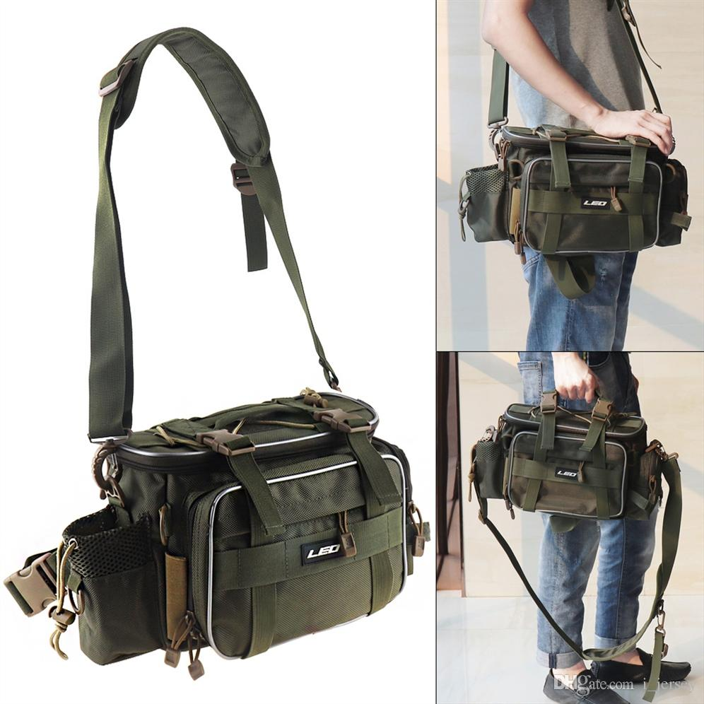2019 Army Green Outdoor Fishing Bag Waterproof Oxford Cloth Waist Shoulder  Messenger Fishing Tackle Reel Lure Camera Storage Bag  85418 From I jersey d75d1a964d72c