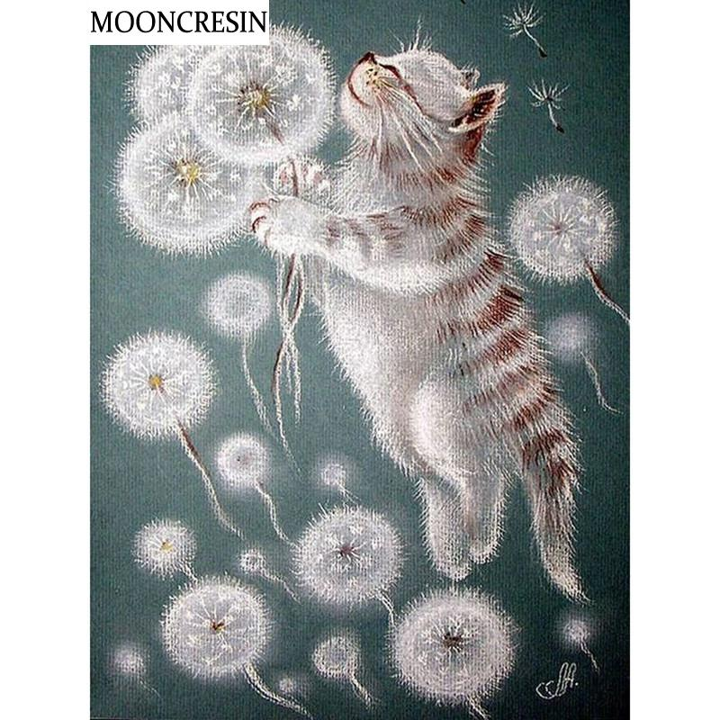 771e79d1ca 5D Diy Diamond Painting Cross Stitch Cats And Dandelions 3D Diamond  Embroidery Full Square Mosaic Picture Handcraft Home Decor Online with  $98.68/Piece on ...