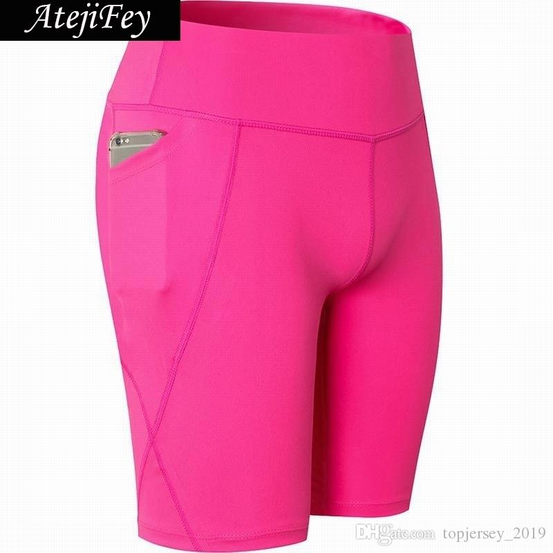 4a750ec432a38 2019 Sports Exercise Tight Sweatpants For Women Short Workout High Elastic  Running Bodybuilding Gym Fitness 2018 Dry Fit Yoga Shorts #157507 From ...