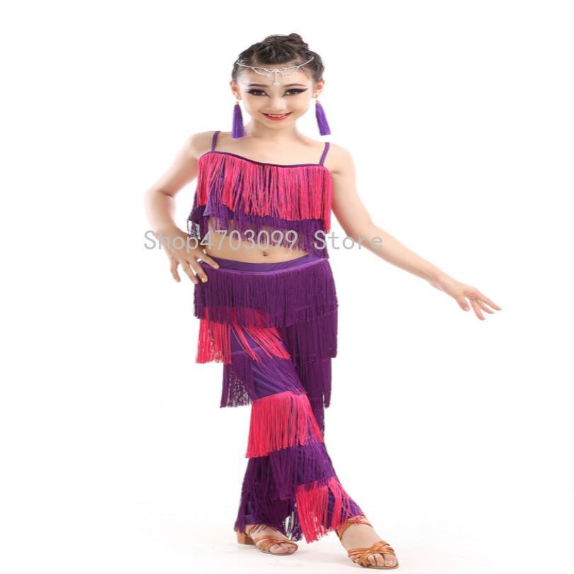 c1f2e7855 2019 2019 New Models Latin Dance Dresses For Sale Ballroom Plus Size Fringe  Tassel Dress Pants Sequin Fringe Salsa Samba Costume From Blueberry15, ...