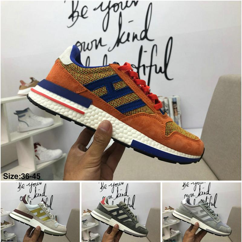 9eba7bfd4f9a4 ZX 500 RM Goku Men 500 Sneakers ZX500 OG Dragon Ball Z Grey Jogging Shoes  36 44 Leopard Print Shoes White Mountain Shoes From Weilai0065