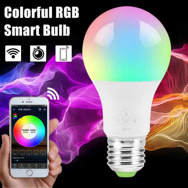 Led Lumières E27 4 5w Lumière Réveil Dimmable Home Alexa De App Avec Google Wifi Ampoule Télécommande Fonctionne Smart Multicolores Ajqc34R5SL