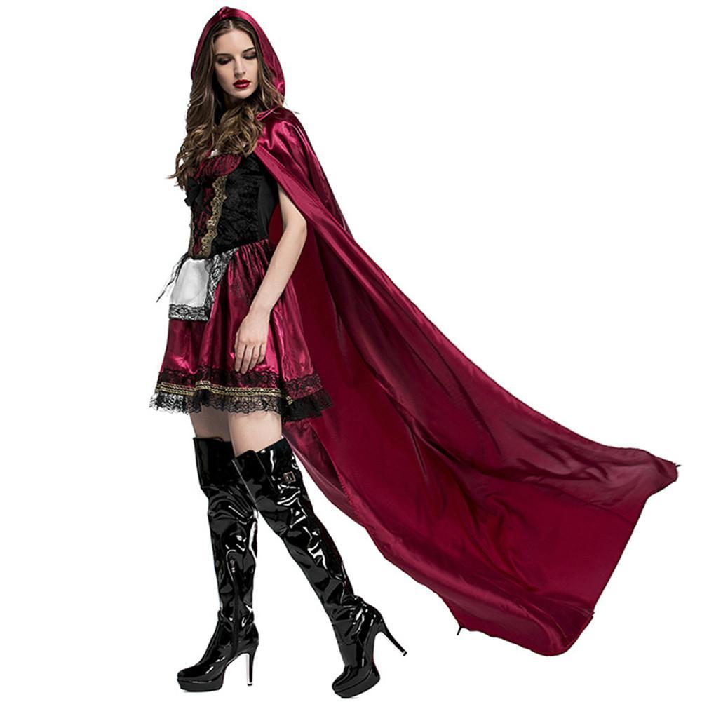 Caperucita Roja Halloween.Nuevo Disfraz De Halloween Caperucita Roja Disfraz Club Nocturno Reina Deluxe Caperucita Roja Vestido Escenico