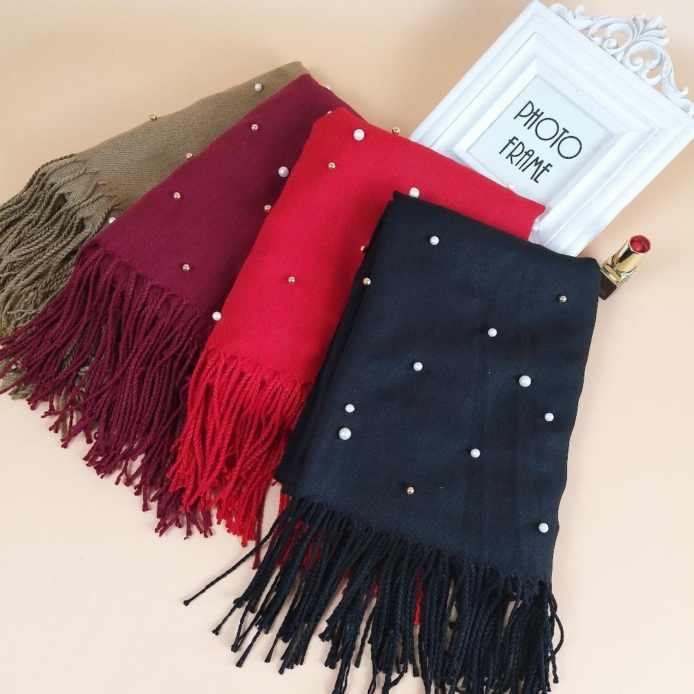 5310078b47dea T 2 High Quality Cashmere Hijab Wrap Headband Shawl Lady Scarf Scarves Long  180*90CM Yellow Bandanas Bandana Dresses From Goodlines, $70.31  DHgate.Com