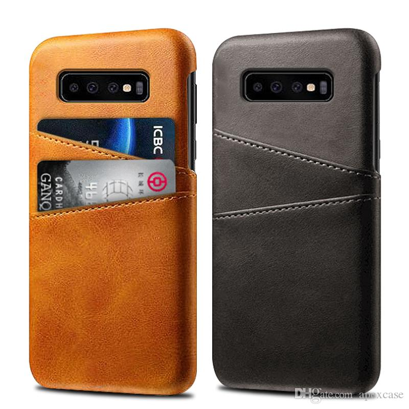 huge selection of 3073a 0f93d Premium Leather phone case for Samsung galaxy S10 lite S10 S10 plus Slim  Protective cover for iPhone XS 7 plus with card slot