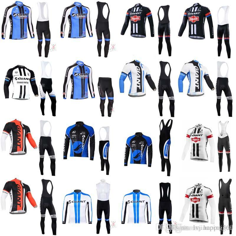 2018 Giant Autumn Men S Pro Team Cycling Jersey Long Sleeve Bib Pants Sets  Bike Shirt Bicycle Clothing Ropa Ciclismo Invierno 1112L Custom Cycling  Clothing ... 806552a4f
