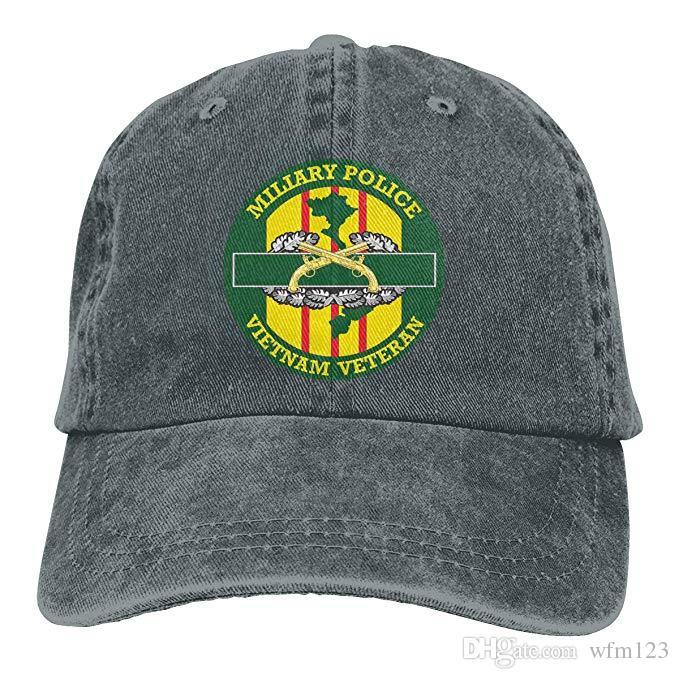 294f48b8eda42 2019 New Custom Baseball Caps Military Police Vietnam Veteran Mens Cotton  Adjustable Washed Twill Baseball Cap Hat Caps Hats Fitted Cap From Wfm123