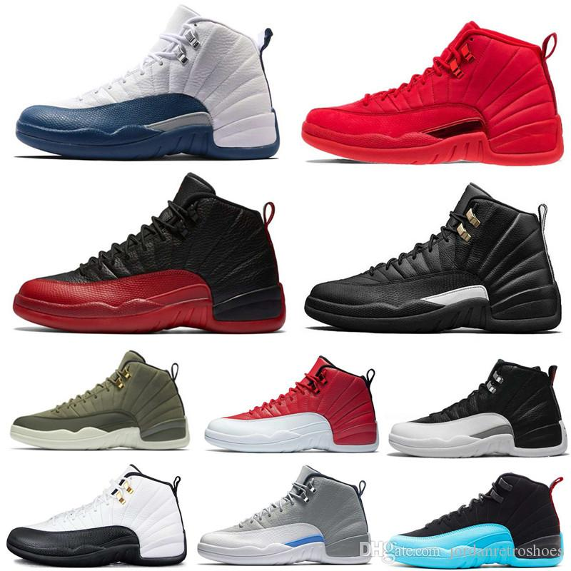 5693fe62ae4 Best Quality 12s Mens Basketball Shoes 12 12s Friday Gym Red Michigan Navy  Bulls Taxi French Blue Designer Sneaker Sports Shoes Size 7 13 Cheap Shoes  4e ...